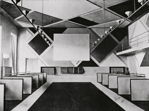 The cinema and ballroom of the Cafe Aubette designed by Theo van Doesburg, photographed in 1928. Courtesy Musées de Strasbourg