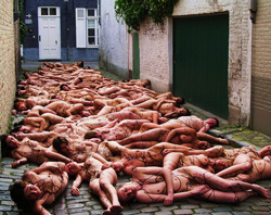 One of Persoone's arty choc antics Photo: Spencer Tunick