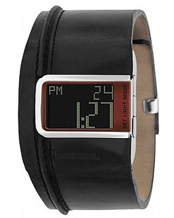 Diesel leather cuff watch
