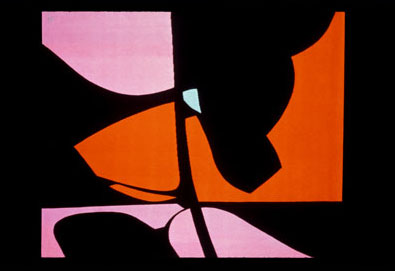 Jan Yoors 'Orange and Purple on Black' 1975. Tapestry