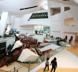 Interior view of Daniel Liebeskind's Mirror City Center