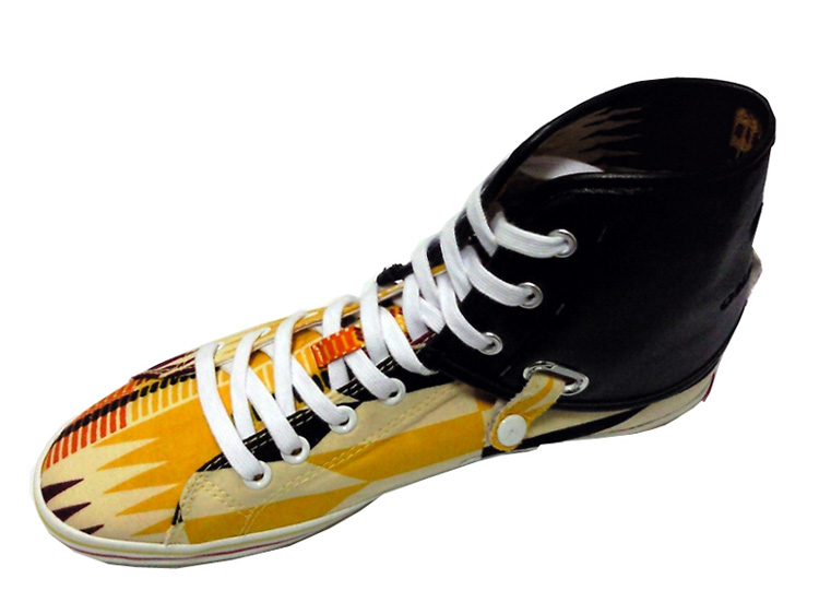 Ohema Ohene - Nana-Kente print high top trainer