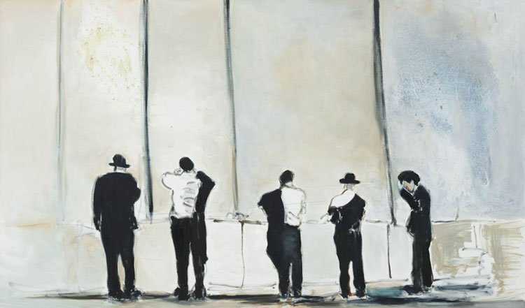 Marlene Dumas 'The Wall' 2009. Oil on linen. Courtesy of the artist & David Zwirner, NYC