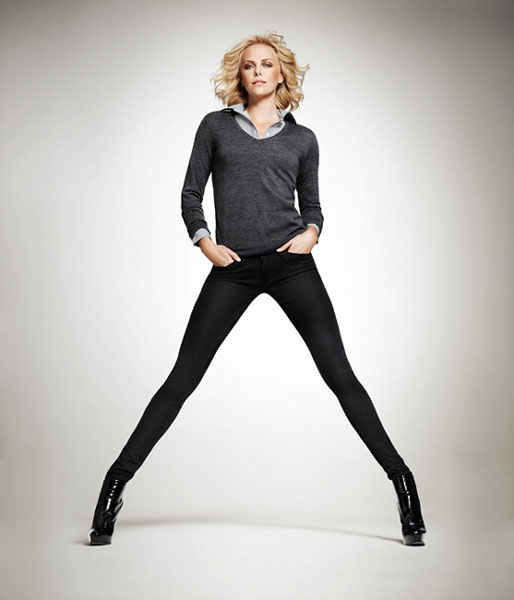 Charlize Theron in Uniqlo's AW10 campaign