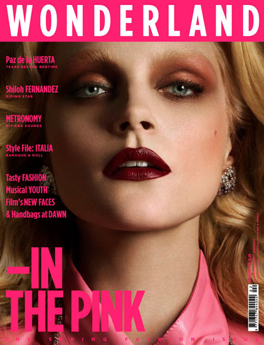 Wonderland - Spring Fashion Issue. Jessica Stam cover. Photo: Cuneyt Akeroglu