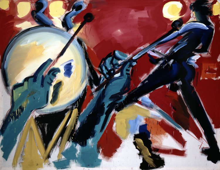 Rainer Fetting 'Drummer and Guitarist' 1979. Photo: Kai Annett Becker